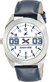 Fastrack Casual Watch for Men, Analog, Leather, 3175SL02