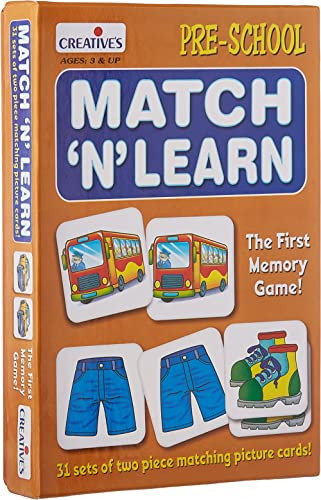 Creative Educational Aids P. Ltd. Match N Learn Card Game (Multi-Color, 62 Pieces) product image