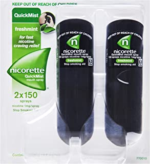 Nicorette Quick Mist Duo Spray 26.4mL 2x150 Sprays (packaging may vary)