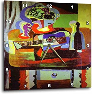 3dRose dpp_61846_3 Picasso Painting Bowl of Fruit N Guitar-Wall Clock, 15 by 15-Inch