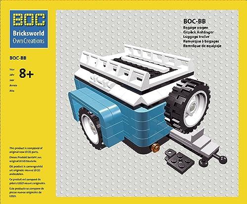 BOC-10252-BB Gep  Anh er Farbe Dark Azur Blau Zubeh für LEGO 10252 K r   Beetle