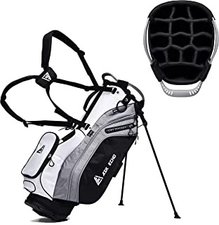 ASK ECHO Lightweight Golf Stand Bag with 14 Way Full Length Dividers 9 Pockets