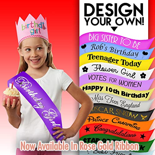 BIRTHDAY // COMPETITION KIDS // CHILDRENS // CHILDS PARTY SASH ANY OCCASION * n