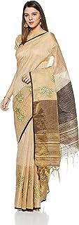 Aalia Art Silk Embroidered Saree with Blouse piece