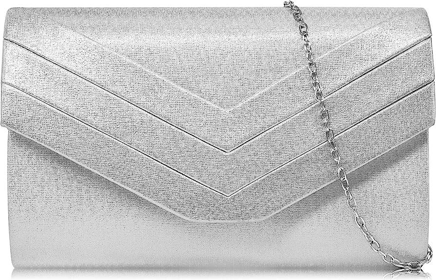 1930s Handbags and Purses Fashion Milisente Evening Bag for Women Suede Envelope Evening Purses Crossbody Shoulder Clutch Bag  AT vintagedancer.com