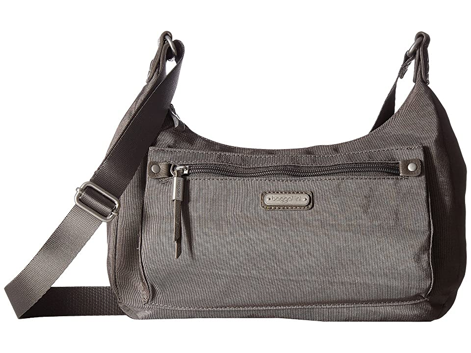 Baggallini New Classic Out and About Bagg with RFID Phone Wristlet (Sterling Shimmer) Bags