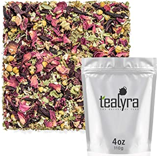 Tealyra - Botanic Bouquet - Hibiscus - Chamomile - Lemon Verbena - Herbal Loose Leaf Tea - Calming and Relaxing Bed Time -...