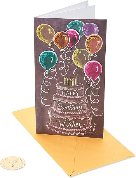 Papyrus Birthday Card (Chalkboard Cake)