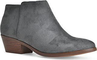 grey western ankle boots