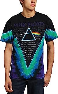 Liquid Blue Men's Pink Floyd Dark Side V-Dye T-Shirt