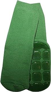 Calcetines de rizo para bebés y niños, antideslizantes, color verde