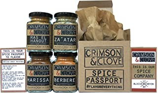 Spice Passport Foodie Gift Set by Crimson and Clove. Paleo, Vegan, Keto and Low Carb Friendly, No Sodium, Sugar Free, No MSG.