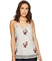 ROMEO & JULIET COUTURE - Beaded Floral Embroidered Tank Top