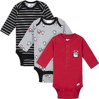 baby-boys 3-pack Long Sleeve Thermal Onesies Bodysuits