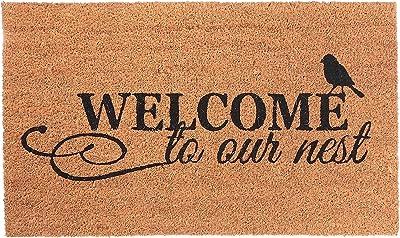 IH CASADECOR Coir (Welcome to Our Nest) Door mat, Multi