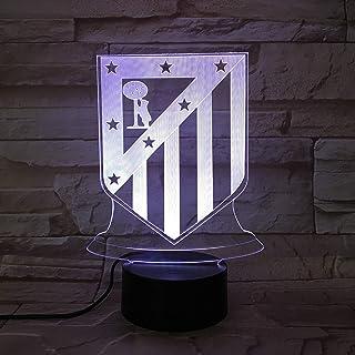 WoloShop Lampara LED Atlético de Madrid Cambia Color USB Luz Nocturna