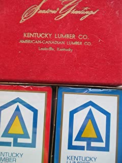 Playing Cards Advertising Collectible ... Kentucky Lumber Company American-Canadian Lumber Co. ... 2 decks of playing cards in case