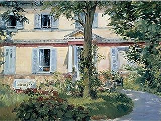 Edouard Manet Landhaus In Rueil Extra Large Art Print Wall Mural Poster Premium XL 大アート壁ポスター