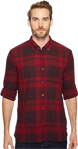 John Varvatos Star U.S.A. - Button Down Short Sleeve Roll Up Shirt w/ Single Pocket