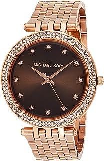 ساعة مايكل كورس دارسي بنية للنساء بسوار من الستانلس ستيل - MK3217