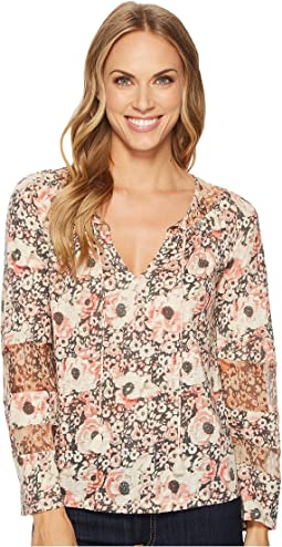 Lucky Brand - Floral Mix Peasant Top