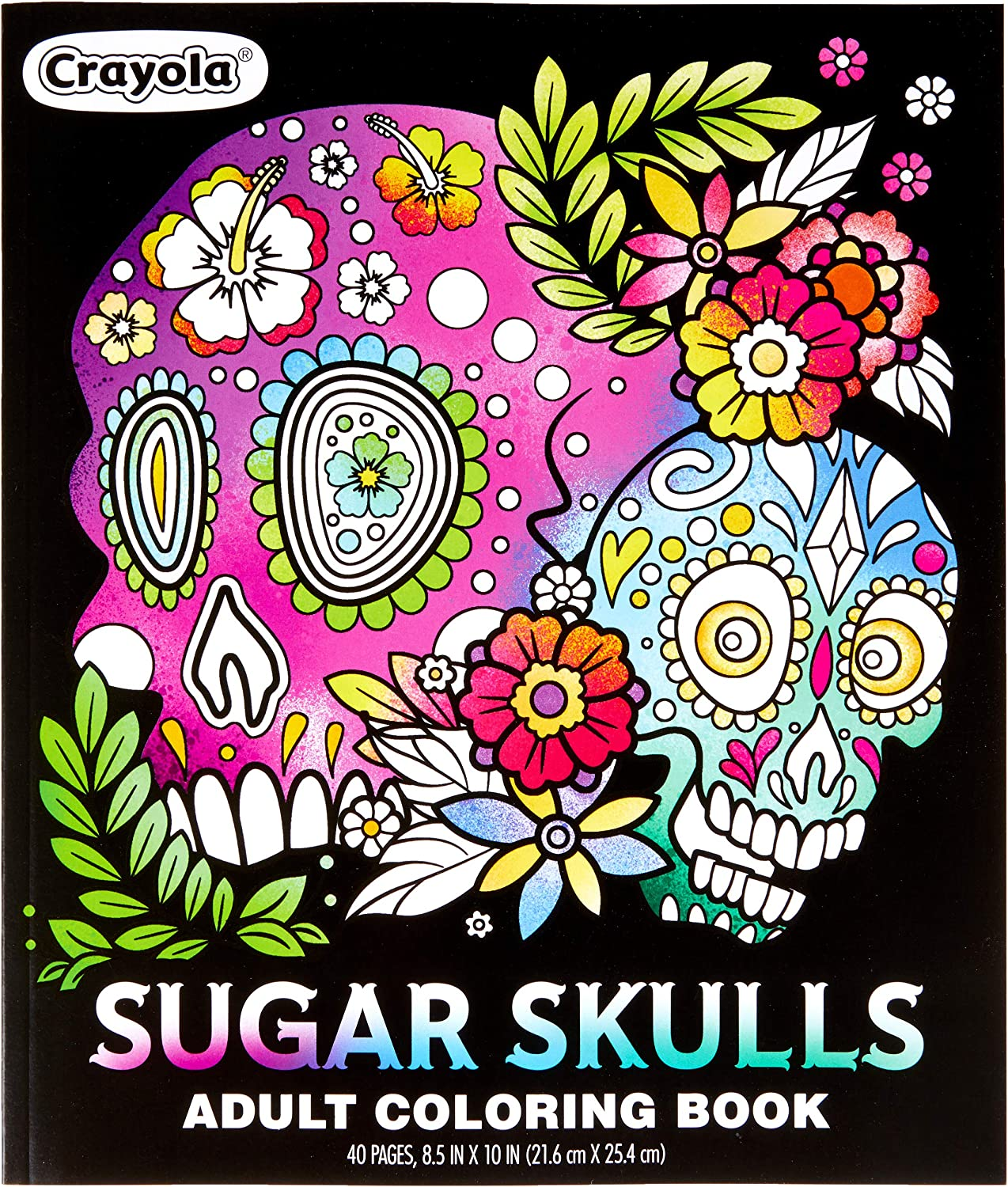 Chicago Mall Crayola Sugar Skulls Coloring Max 63% OFF Book Teens Gift 40 for