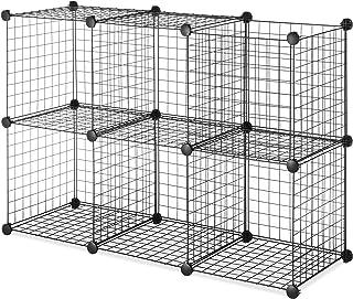 Whitmor - Cubos de almacenamiento, Negro, SET OF 6 BLACK, 1