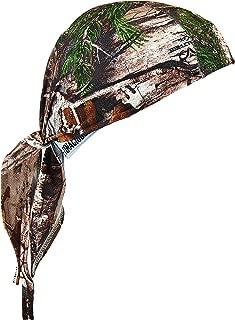 Ergodyne Chill-Its 6615 Dew Rag, Moisture-Wicking, Sweat Absorbing Headband, RealTree Camo