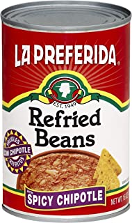 La Preferida Refried Beans, Spicy Chipotle, 16 oz (Pack - 6)