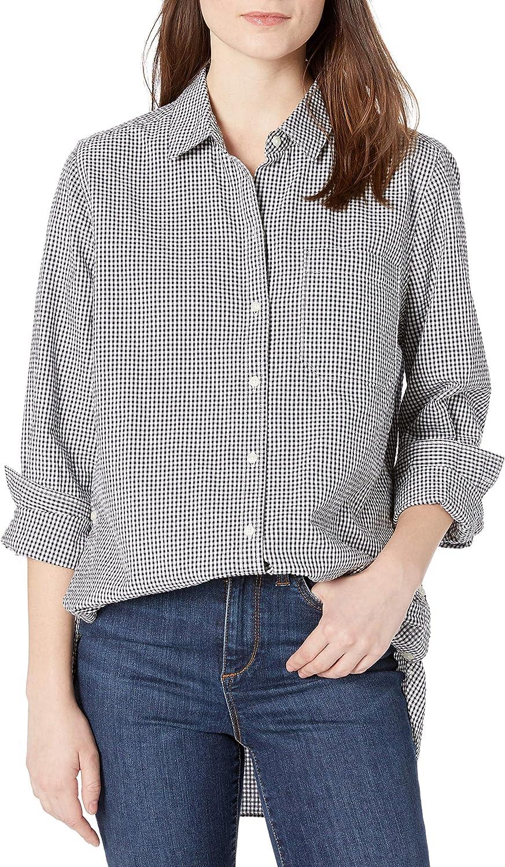 Goodthreads Seersucker Long-sleeve Side-button Shirt shirts Mujer Marca