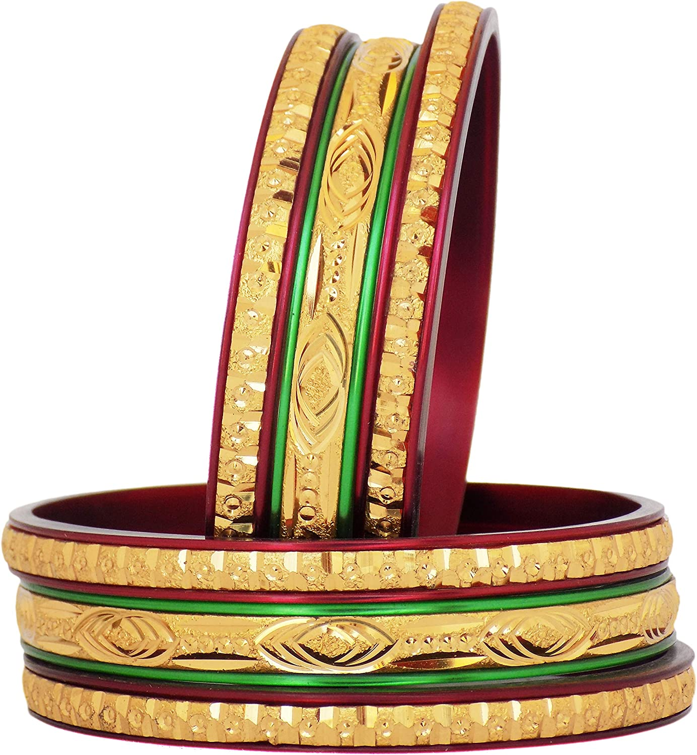 JD'Z COLLECTION Gold Plated Indian Jewelry Bangles Set Ethnic Style Beautiful Bangles Set Dailywear,Partywear Bangles Set