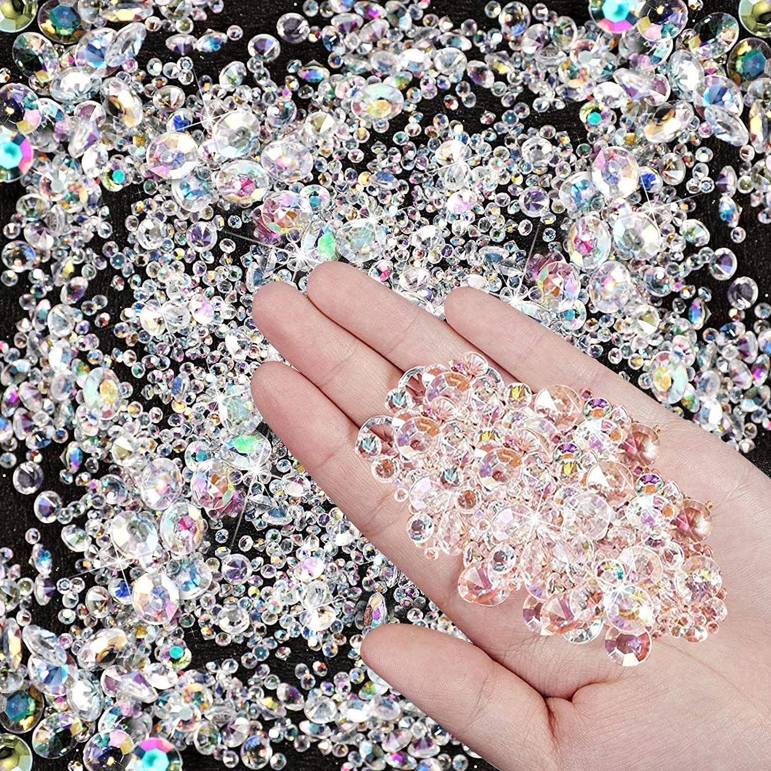 Favoby 4000 Pcs Bling Diamond Scatter Acrylic Table Max 80% Brand new OFF Gem Wedding