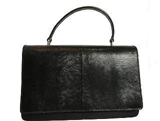 86c8dffef151 Prada Black Reptile Leather and Nylon Designer Crossbody Bag for Women  1BA016