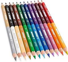 Jolly Superstick Crazy Buntstifte Farbstifte   24 Farben mit 12 Farbstiften   Kinderfest und Bruchsicher   Ungiftig   extra dicke Mine   12 Stifte im Kartonetui