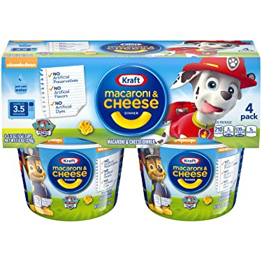 Kraft Easy Mac Paw Patrol Shapes Macaroni and Cheese (4 Microwaveable Cups)