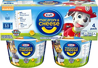 Kraft Easy Mac Paw Patrol Shapes Macaroni and Cheese (4 Microwaveable Cups)