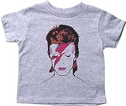 Baffle David Bowie Crew Neck Toddler Tee/Bowie/Ziggy Stardust/70's Glam