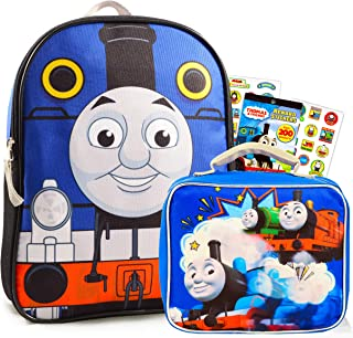 Thomas and Friends Mini Backpack and Lunch Box Set ~ Premium 11 Thomas Backpack and Insulated Lunch Bag with Stickers (Thomas the Train School Supplies Bundle)