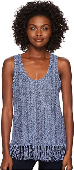 Three Dots - Sleeveless Fringe Sweater