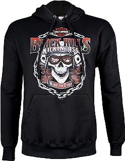 fcddb632d Harley-Davidson Men's Black Hills Kickin' Ass Pullover Hoodie Sweatshirt
