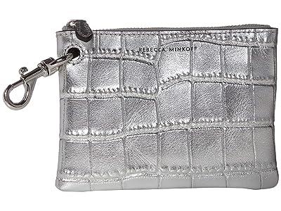 Rebecca Minkoff Clip Pouch (Silver) Handbags