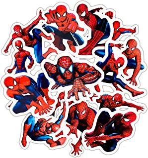 Laptop Stickers for Kids(32pcs),Superhero Spiderman Stickers for Water Bottles,Vinyl Stickers for Laptop Skateboard Luggage Decal Stickers Pack