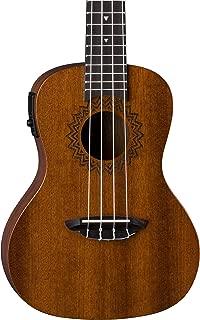 Luna Vintage Mahogany Acoustic/Electric Concert Ukulele with Preamp, Satin Natural