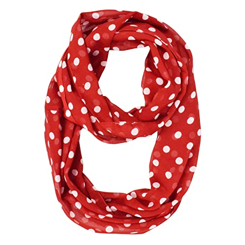 a94b0dc5831 Peach Couture Light and Sheer Polka Dot Circle Print Infinity Loop Scarf