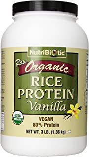 Nutribiotic Organic Rice Protein, Vanilla, 3 Pounds
