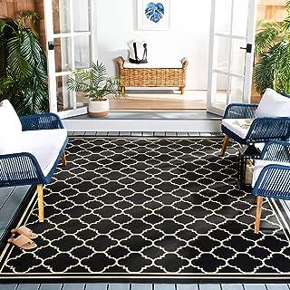Safavieh Courtyard Collection CY6918-226 Black and Beige Indoor/ Outdoor Area Rug (8' x 11')