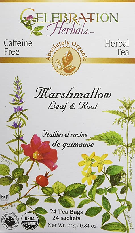 CELEBRATION HERBALS Marshmallow Leaf & Root Organic 24 Bag, 0.02 Pound