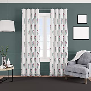 Jaipuri Kala 1 Piece of blackout curtains light weight pure cotton hangs elegantly with back loops; UV RAY & SUN LIGHT fil...