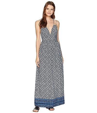 American Rose Kate Spaghetti Strap Dress (Navy) Women