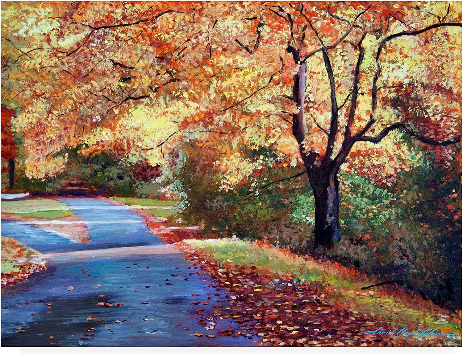 Trademark Limited time trial price Fine Art Fork in The by David Lloyd 24x32 Glover online shopping Road
